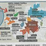 Mappa ndrine calabresi a Milano