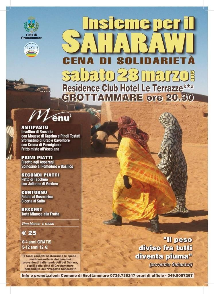 """INSIEME PER IL SAHARAWI"", APPUNTAMENTO A SABATO."