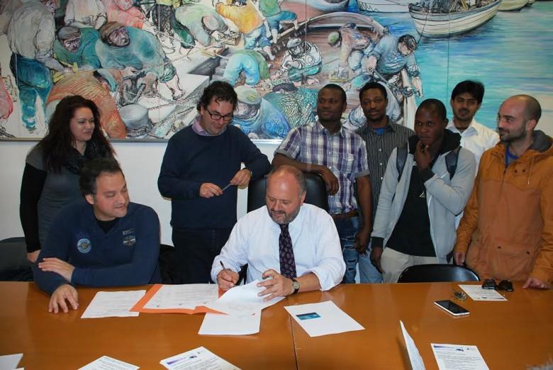 Associazione i care e comune di san benedetto del tronto progetto con migranti