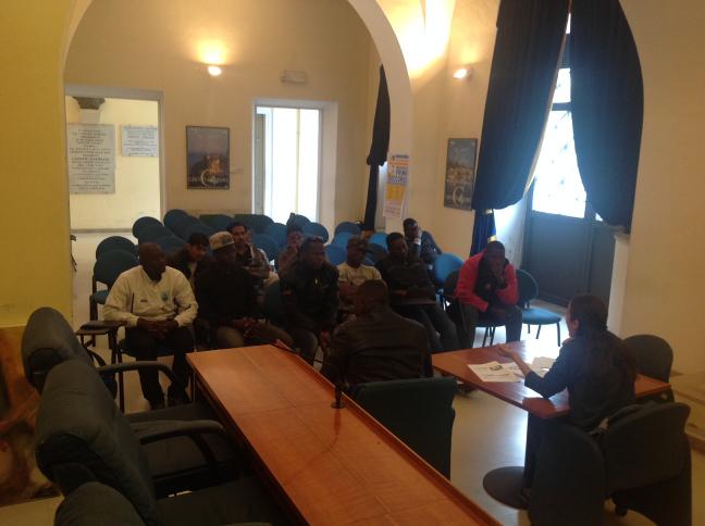 Corso formazione sulla sicurezza dei richidenti asilo per il progetto di decoro urbano di Grottammare dell'associazione I Care