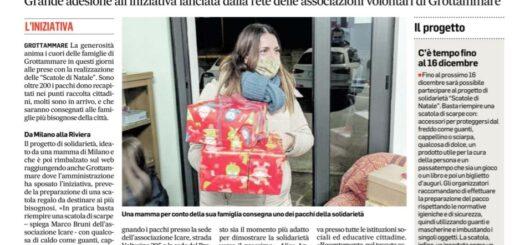 Scatole di Natale dell'associazione I Care